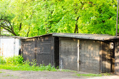 Garage buildings Royalty Free Stock Photos