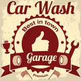 Garage and car wash stock illustration
