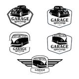 Garage classic and restoration and custom parts logo vector. LogoCar Garage classic and restoration and custom parts logo vector Royalty Free Stock Photography