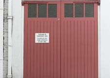 Garage in constant use no parking sign London. Uk stock photography