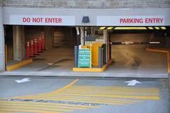 Garage de estacionamiento de la entrada Fotos de archivo libres de regalías