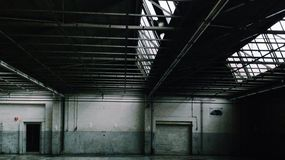Garage de Peugot photo libre de droits