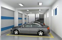 garage de stationnement 3D Photographie stock libre de droits