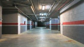 Garage de subterráneo vacío almacen de video