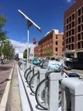 Garage de vélo de Denver Photographie stock