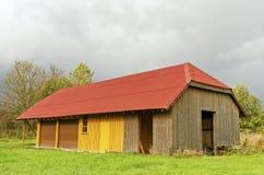 Garage del paese. Fotografia Stock