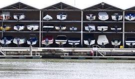 Garage della barca Fotografia Stock