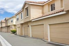 Garage della casa a schiera Immagine Stock Libera da Diritti