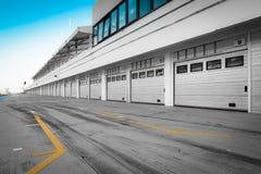 garage della gara motociclistica su pista del Automatico-motore Immagini Stock