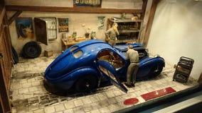 Bugatti 57 SC Atlantic scale model diorama Stock Photo