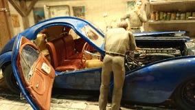 Bugatti 57 SC Atlantic scale model diorama Royalty Free Stock Photo