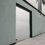 Garage door. Close up shot of a garage door stock photography