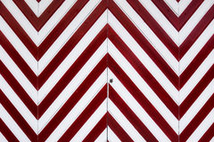 Garage door. With red and white diagonal lines Royalty Free Stock Photography