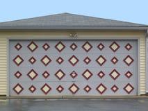 Garage door. With diamond-shaped design Stock Photos