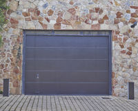 Garage door, Athens suburbs, Greec Royalty Free Stock Photo