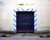 Garage door. With blue lines Stock Photos
