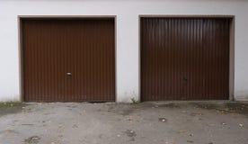 Garage door drive in door gate cardriving Stock Image