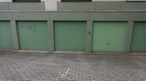 Garage door drive in, door gate cardriving gate Stock Image
