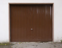 Garage door, drive in door gate cardriving house Stock Photography