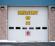 Garage Door emergency sign Royalty Free Stock Images