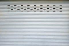 Garage door grey pattern Royalty Free Stock Photo