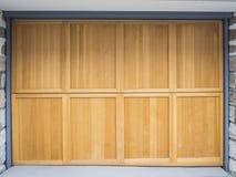 Garage door. Image of Wooden garage door royalty free stock photos
