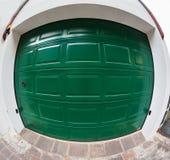 Garage door with lock.Fisheye. Stock Photography