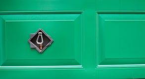 Garage door with lock. Royalty Free Stock Photography