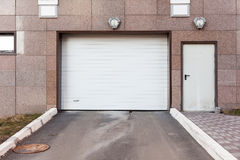 Garage door at a modern buildingÑŽ. Garage door at a modern building royalty free stock photos
