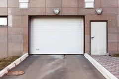 Garage door at a modern buildingю Royalty Free Stock Photos