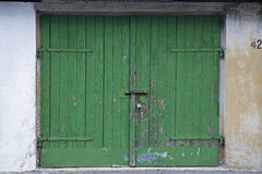Garage door. Old garage door as a background for composings Royalty Free Stock Photography