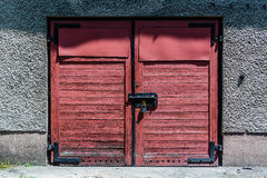 Garage door Stock Photography