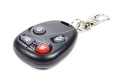 Garage door remote control on a white background Stock Images