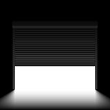 Garage door with rolling shutters Royalty Free Stock Photos