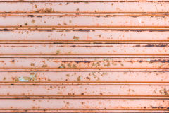 Garage door with rusty. Garage door with rusty grunge texture background royalty free stock photo