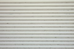 Garage door stripped texture ; metal background Stock Photos