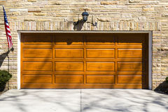 Garage Door. On sunny day royalty free stock image