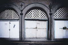 Garage doors, Brighton Stock Photo