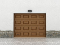 Garage doors. Royalty Free Stock Photo
