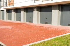 Garage doors Stock Images