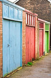Garage doors Royalty Free Stock Photography