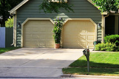 Garage driveway Stock Photography