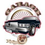 Garage_emblem Fotos de archivo