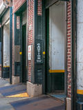 Garage Entryway. Parking garage in the city Royalty Free Stock Photography