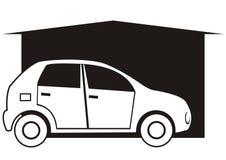 Garage et voiture Photographie stock libre de droits