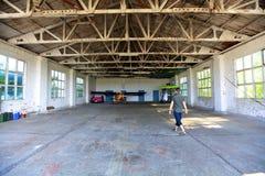 Garage för en nivå Royaltyfria Bilder