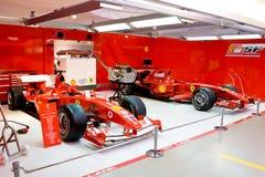 Garage of Formula 1 team  ferrari Royalty Free Stock Photos