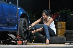 Garage Girl Stock Image