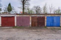 Garage i den Roznov fröskidan Radhostem Arkivbild