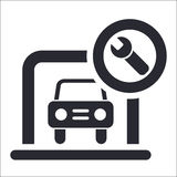 Garage icon Stock Photo